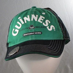 Guinness Bill Cap Hat With Built In Bottle Opener Black/Green