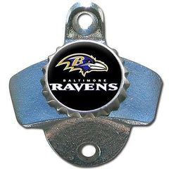 Baltimore Ravens Wall Mount Bottle Opener Zinc Aluminum NFL
