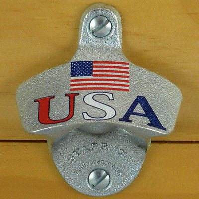 USA Flag Patriotic Starr X Wall Mount Bottle Opener