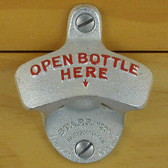 OPEN BOTTLE HERE Starr X Wall Mount Bottle Opener
