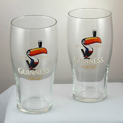 Pair of Guinness Toucan Imperial Pint (20oz) Tulip Glasses, Classic