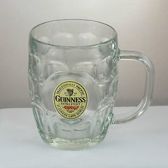 Guinness Glass Hobnail Tankard, Imperial Pint (20oz), Heavyweight Classic