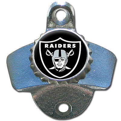 Oakland Raiders Wall Mount Bottle Opener NFL