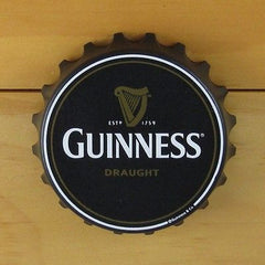 Guinness Bottle Opener Fridge Magnet, Bottle Cap Style, Pop Off or Twist Off