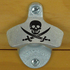 SKULL & SWORDS Pirate Starr X Stationary Wall Mount Bottle Opener