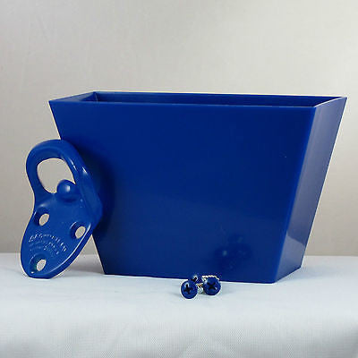 Starr Cavalier Blue Wall Bottle Opener Cap Catcher Set