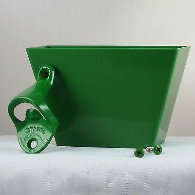 Starr Standard Green Wall Bottle Opener and Cap Catcher