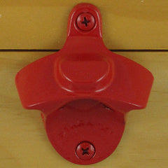 Red Plain BOTTLE CAP MOUNT Starr X Wall Mount Bottle Opener - Powder Coated