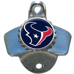 Houston Texans Wall Mount Bottle Opener Zinc Aluminum Alloy US Made NFL