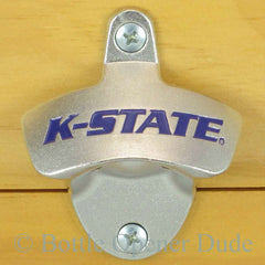 Kansas State Wildcats Wall Mount Bottle Opener K-State NCAA, Licensed