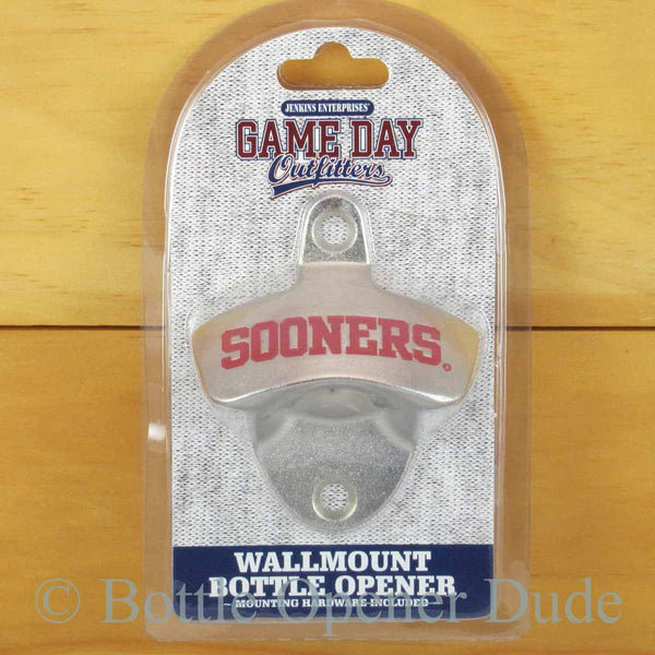 Oklahoma Sooners Wall Mount Bottle Opener Ncaa Bottle
