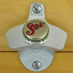 Cerveza Sol Mexican Beer BOTTLE CAP Starr X Wall Mount Bottle Opener