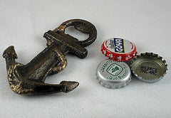 Nautical ANCHOR Cast Iron Figural Bottle Opener/ Paperweight, Old Fashioned Painted Look, Brand NEW!