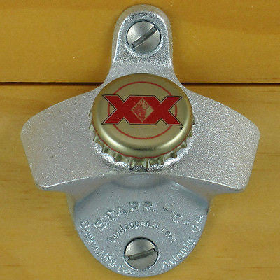 Dos Equis Bottle Cap Wall Mount Bottle Opener