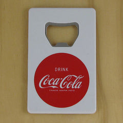 "Coca Cola White ""Credit Card"" Bottle Opener Fridge Magnet Coke"