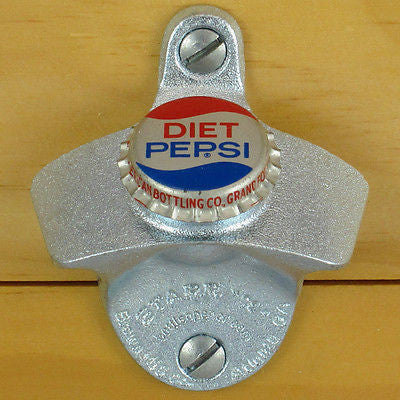 Diet Pepsi Vintage Bottle Cap Wall Mount Bottle Opener