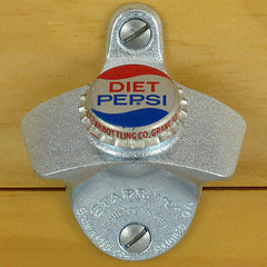 DIET PEPSI VINTAGE BOTTLE CAP Starr X Wall Mount Opener