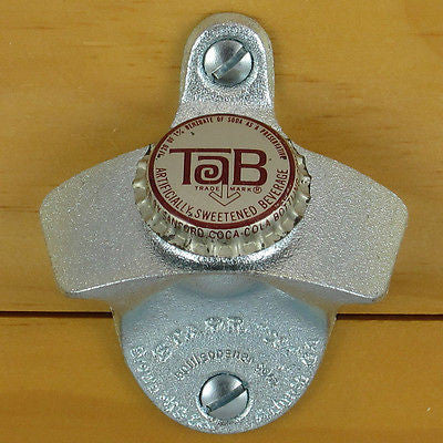 Tab Soda Vintage Bottle Cap Wall Mount Bottle Opener