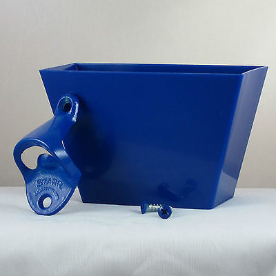 Starr Standard Blue Wall Bottle Opener & Cap Catcher Set