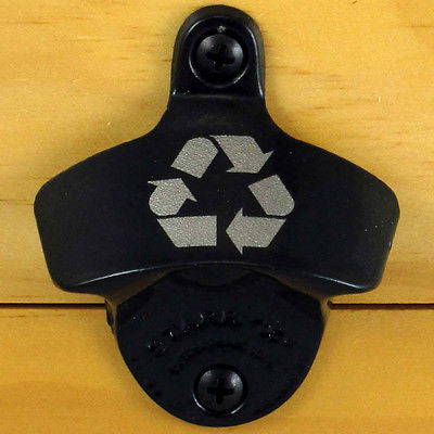 Black Recycle Starr X Wall Mount Bottle Opener