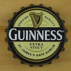 Guinness EXTRA Bottle Opener Fridge Magnet, Cream/Black Pop Off or Twist Off