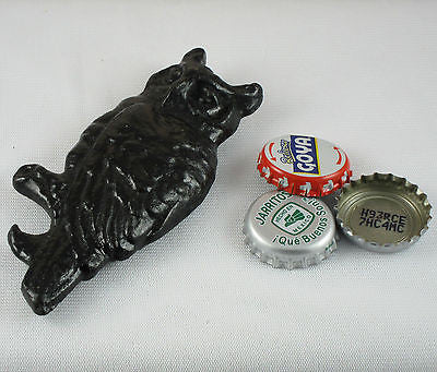 Black Owl Cast Iron Bottle Opener/ Paperweight