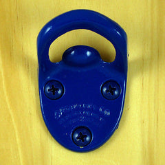 Blue CAVALIER Type Starr Wall Mount Bottle Opener, Powder Coated Finish