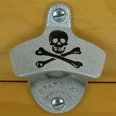 SKULL AND BONES Pirate Starr X Wall Mount Stationary Bottle Opener