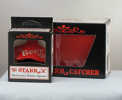 Red Ice Cold Beer Served Here Bottle Opener Cap Catcher