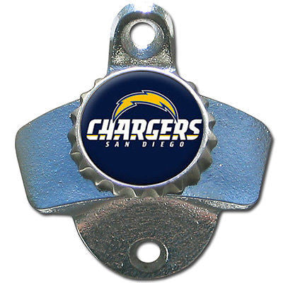 San Diego Chargers Wall Mount Bottle Opener NFL