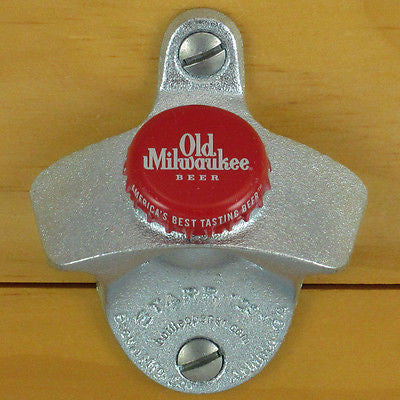 Old Milwaukee Red Wall Mount Bottle Opener