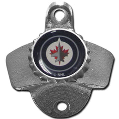 Winnipeg Jets Wall Mount Bottle Opener Zinc Aluminum Alloy NHL