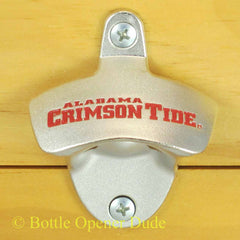 Alabama Crimson Tide Wall Mount Bottle Opener Zinc Alloy NCAA Licensed BAMA