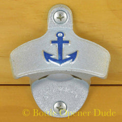 Embossed ANCHOR Starr X Wall Mount Stationary Bottle Opener