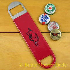 Arkansas Razorbacks SPEED, BAR BLADE Bottle Opener, Vinyl Coated Steel, NCAA