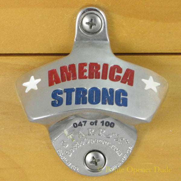 AMERICA STRONG 3 Color Stainless Steel Starr X Wall Mount Bottle Opener LIMITED!!!