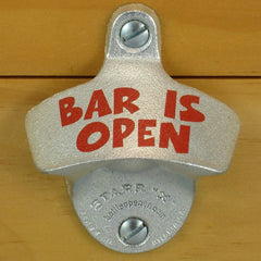 BAR IS OPEN Starr X Wall Mount Stationary Bottle Opener Sturdy Metal Design