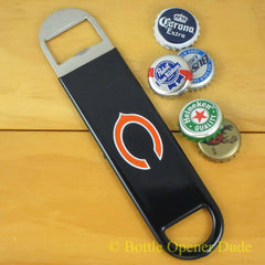 Chicago Bears SPEED, BAR BLADE Bottle Opener Vinyl Coated Steel NFL