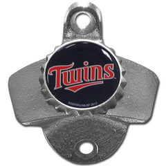 MINNESOTA TWINS Wall Mount Stationary Bottle Opener MLB