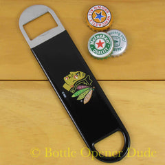 Chicago Blackhawks SPEED, BAR BLADE Bottle Opener Vinyl Coated Steel NHL