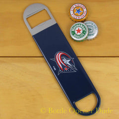 Columbus Blue Jacket SPEED, BAR BLADE Bottle Opener Vinyl Coated Steel NHL