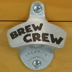 BREW CREW Starr X Wall Mount Stationary Bottle Opener Sturdy Metal Design