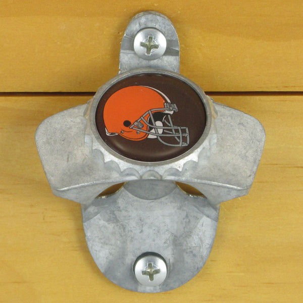 Cleveland Browns Wall Mount Bottle Opener Zinc Aluminum Alloy NFL