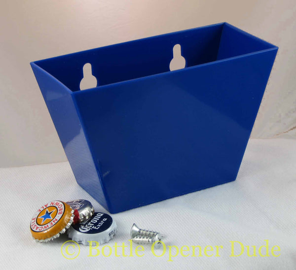 Blue Plastic Cap Catcher for Starr X Bottle Openers