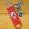 Kansas City Chiefs SPEED, BAR BLADE Bottle Opener Vinyl Coated Steel NFL