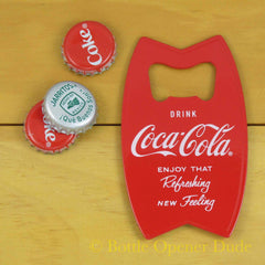 Drink Coca Cola Red Bottle Opener Fridge Magnet, Solid Metal Construction, Coke