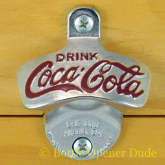 Coca Cola Coke Wall Mount Stationary Bottle Opener