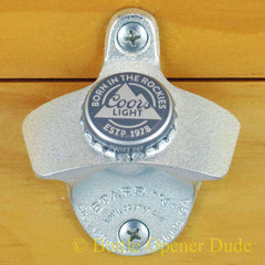 COORS LIGHT Born in the Rockies Beer BOTTLE CAP Starr X Wall Mount Bottle Opener