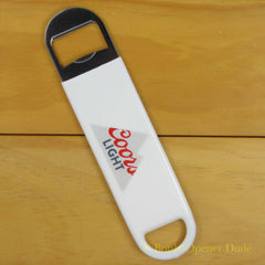 Coors Light Vinyl Coated Speed Bar Blade Opener, Open Your Bottles Like A Pro!