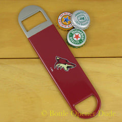 Arizona Coyotes SPEED, BAR BLADE Bottle Opener Vinyl Coated Steel NHL